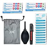 JJC Deluxe DSLR & Mirrorless Camera Lens Cleaning Kit Tool with Air Blower,Lens Cleaning Pen,Microfiber Cloth and Wet Cleaning Wipe for Canon Nikon Sony Fujifilm Panasonic Olympus Camera Lens and More