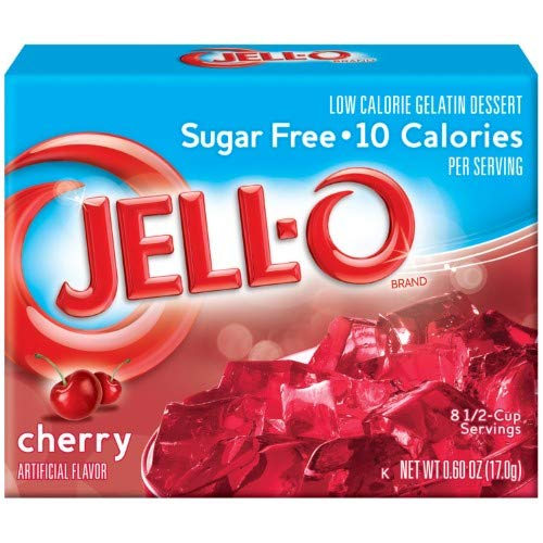 Jell-o, Low Calorie Gelatin Dessert, Cherry (Pack of 2)