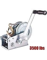 Rungao 1590 kg de Doble Engranaje, manivela Manual para Barco ATV RV Remolque de Mano 33 pies