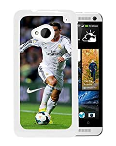 Soccer Player Cristiano Ronaldo 30 White High Quality Custom HTC ONE M7 Protective Phone Case