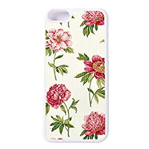 """SnapMade(TM) Customized iPhone 6 Case - Floral Fabric Pattern Cover Case for iPhone 6 4.7"""" Case (White)"""
