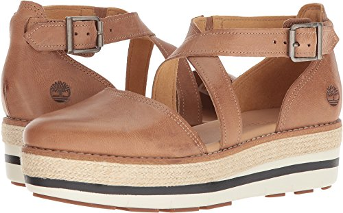 Timberland Women's Emerson Point Closed Toe Sandal Light Brown Full Grain 7.5 B US