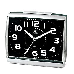 POWER Non Ticking household Alarm Clock for Bedrooms with light and Snooze (BLACK)