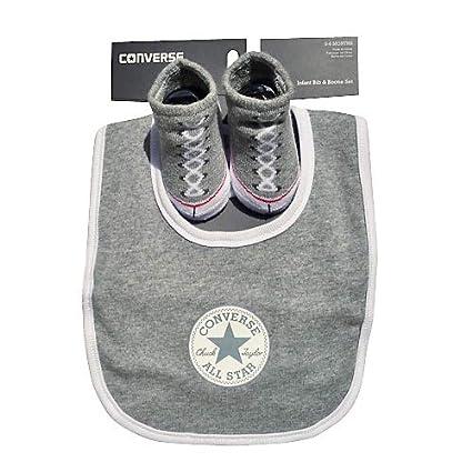 3ebe674a881b Converse Baby Boys  Bib   Bootie Socks Set - Grey