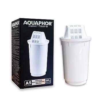 AQUAPHOR - Cartuchos de filtro de agua de repuesto A5 para bujías compatibles con Provance, Prestige, Atlant, Smile y todos los B5 y B6 1 pack: Amazon.es: ...