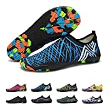 BlanKey Water Sports Shoes Quick-Dry Barefoot Flexible Flats Beach Swim Shoes for Men Women Kids blue1 40