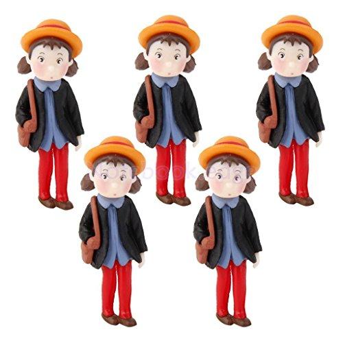 Set of Miniature Human People Garden Terrarium Figurine Bonsai Dollhouse Decor (Miniature People For Terrariums)