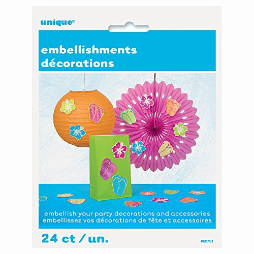 Paper Summer Embellishment Decorations Assorted