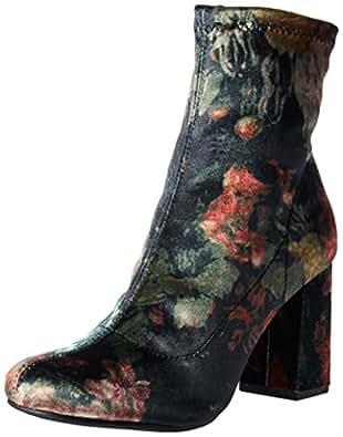 MIA Women's Valencia Ankle Bootie, Black/Multi Floral, 6 M US