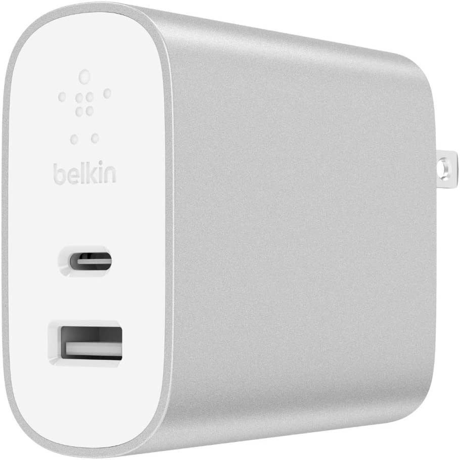 Belkin Boost Charge 27W USB C + 12W USB A Wall Charger (39W Total), Compatible with iPhone 11, 11 Pro, 11 Pro Max, XS, XS Max, XR, X, 8, 8 Plus and