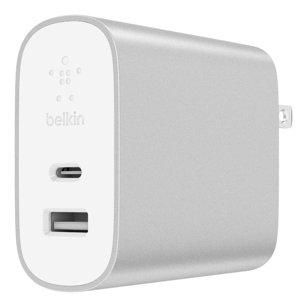 Belkin Boost Charge 27W USB-C + 12W USB-A Wall Charger (39W Total) – iPhone USB-C Charger for iPhone Xs, XS Max, XR, X, 8/8 Plus and More