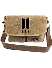 Kpop BTS Bangtan Boys Messenger Bag Vintage Canvas Shoulder Bag Love Yourself for Army