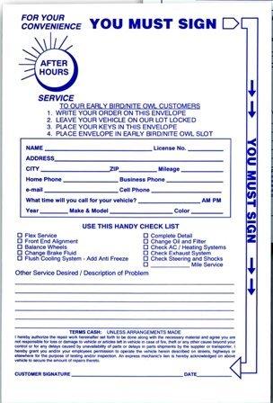 Petoskey Fb-P9833-48 Envelopes For Key Drop Box