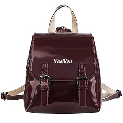 2019 Women PU Leather Backpacks Vintage Female Shoulder Bag Sac a Dos Travel Ladies Bagpack Mochilas School Bags For Girls: Handbags: Amazon.com