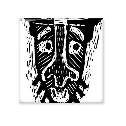 Sad Cold Black Indian Flamen Priest Sacrifice Totem Tattoo Illustration Pattern Ceramic Bisque Tiles for Decorating Bathroom Decor Kitchen Ceramic Tiles Wall Tiles 70%OFF