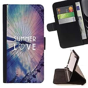Super Marley Shop - Funda de piel cubierta de la carpeta Foilo con cierre magnšŠtico FOR Samsung Galaxy S5 V SM-G900 G9009 G9008V- Summer Love