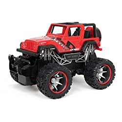 New Bright 1:24 Full-function Rc Jeep Wrangler - Red