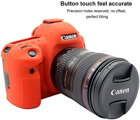 Color : Red XIAOMIN Soft Silicone Protective Case for Canon EOS 5D Mark IV Premium Material