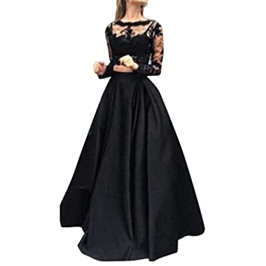 Pingtr Formal Prom Dress for Women, Women Retro Ball Gown Dress 1950s Evening Rockabilly Dress