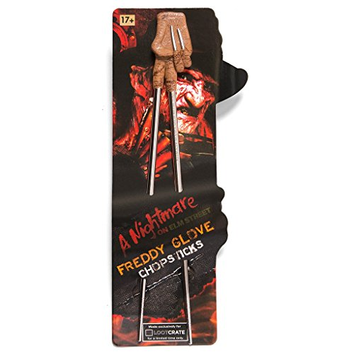 "Loot Crate October 2016 ""Horror"" Exclusive Nightmare on Elm Street Freddy Krueger Glove Chopsticks"