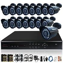 iSmart 16 Channel D1 DVR Kit including 16 700TVL Heavy Duty Bullet Security Camera System D6016DH+C1030DP7