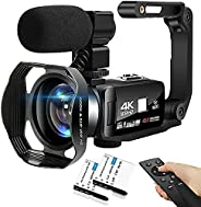 4K Digital Camera 48MP 18X HD Camcorder WiFi IR Night Vision Video Camera for YouTube 3.0inch HD Touch Screen