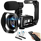 4K Digital Camera 48MP 18X HD Camcorder WiFi IR Night Vision Video Camera for YouTube 3.0inch HD Touch Screen Vlogging Camera