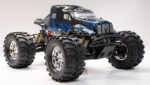 1/8 th Scale 2.4Ghz Exceed RC Monster Truck MadBeast Nitro Gas RTR Version (Black/Blue)