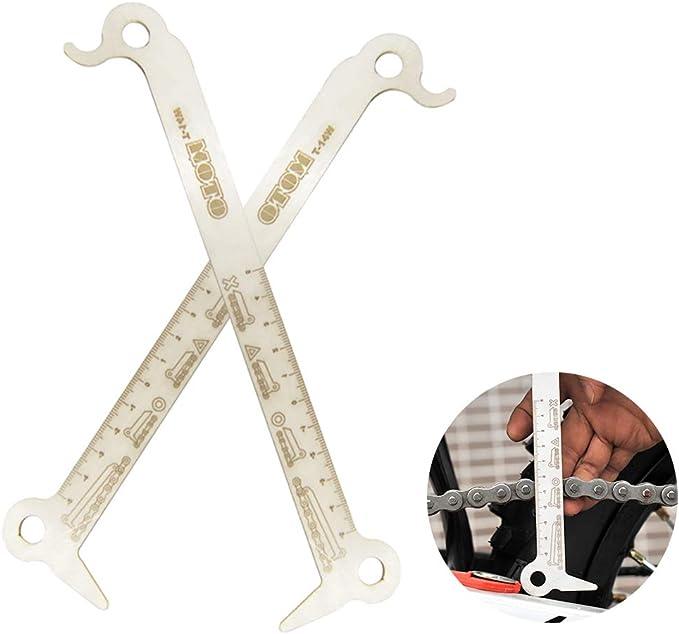 Bicycle Chain Checker Wear Indicator Steel Bike Hook Bolt Measuring Gauge Ruler