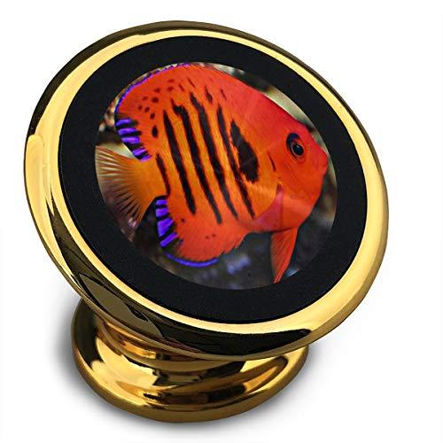 Magnetic Car Phone Holder 360° Rotation Universal Ocean Marine Angelfish Stick-on Dashboard Mount Holder for Phone Most Smartphones