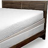 Cardinal & Crest Beautyrest Polyurethane Foam Mattress Elevator | 5-Inch Descending to 1-Inch Mattress Wide Foam Wedge | Ring-of-Air Technology for Cooler Sleep, Queen