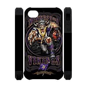Black NFL Minnesota Vikings Case For Iphone 6 Plus (5.5 Inch) Cover Hard NFL Vikings Iphone 6 Plus (5.5 Inch) Cover HD Image Snap ON