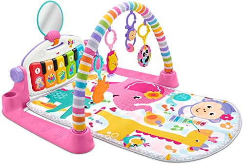 51WDxks29lL - Fisher-Price Deluxe Kick 'n Play Piano Gym, Pink