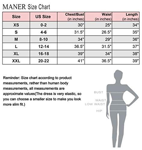 MANER Women's V Neck Gradient Sequin Dress Sparkle Glitter Bodycon Club Party Tank Dresses