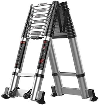 J-Escalera de Tijera Portátil Escaleras paso Paso Escaleras, etapa de plegado Stool multifuncional antideslizantes varios ajustes de altura de aleación de aluminio telescópica Ingeniería de escalera: Amazon.es: Bricolaje y herramientas