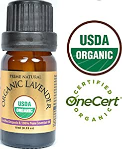 Organic Lavender Essential Oil 10ml - USDA Certified - Bulgarian - 100% Natural Pure Undiluted Therapeutic Grade for Aromatherapy Scents Diffuser Calming Relaxing Rejuvenating & Anxiety Relief