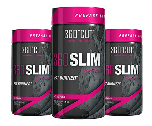 360Cut 360 Slim Fat Burning Appetite Suppressant for Her 90 Capsules [3 Pack] by 360Cut