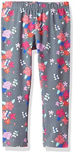 2t Girl Gymboree - Gymboree Girls' Toddler Printed Legging, Grey Floral, 2T