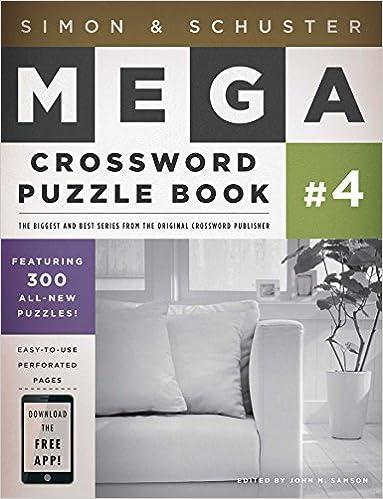 Simon Schuster Mega Crossword Puzzle Book 4 Ss Mega Crossword