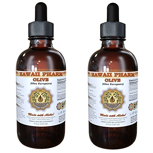 Cheap Olive Liquid Extract, Organic Olive (Olea europaea) Tincture, Herbal Supplement, Hawaii Pharm, Made in USA, 2×4 fl.oz