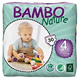 Bambo Nature Baby Diapers Classic, Size 4, (15.5-39.5 lbs), 30 Count, 1.07 kilograms