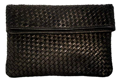 Zur Leather Women's Robert Clutch in 'Joyce' Glove Fold Over Woven A1zn7qdz