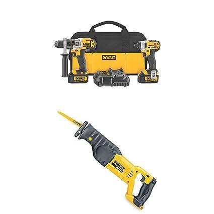 Dewalt 20v hammer drill reciprocating saw combo