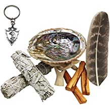 XL Smudge Kit - Sage, Palo Santo, Abalone Shell, Tripod, Feather & Free Gift!! Healing, Smudging, Cleansing, Purifying, Stress Relief