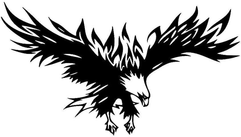 Practisol Eagle Car Decals 1 Pack Black Car Graphics Vinyl Sticker Decals...