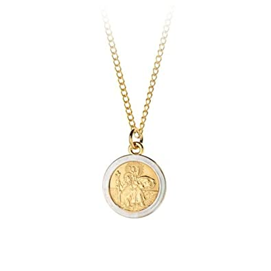 9ct rolled gold two tone st christopher pendant necklace with 18 9ct rolled gold two tone st christopher pendant necklace with 18quot chain aloadofball Choice Image