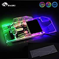 GPU Copper Water Cooling Block Compatible with ASUS ROG Strix RTX2080 O8G Gaming 5V 3PIN RGB Remote Control Back Plate