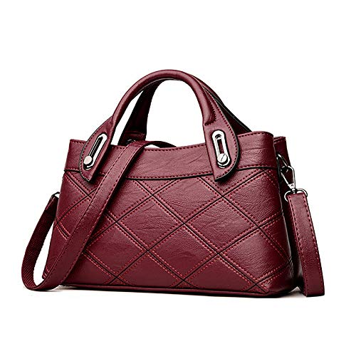 Sacs À Tote Fourre PU Gray sac Grande Main Tout De Bags main rouge Red Capacité Women's QZTG à Embossed Purple 7Pwgq1R