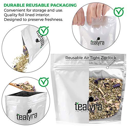Tealyra - French Countryside - Fennel - Peppermint Lemon Balm - Lavender - Sage - Herbal Loose Leaf Tea - Calming and Relaxing - Perfect Bed Time Tea - Caffeine Free - 112g (4-ounce)