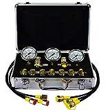 Excavator Hydraulic Pressure Test Kit, Portable Hydraulic Test Gauge,Pressure Test Guage Coupling 9000 PSI Max